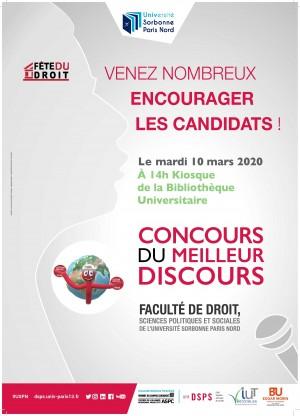 Paris XIII - Concours du meilleur discours